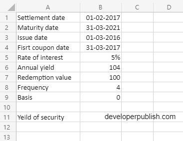 How to use ODDFYIELD function in Excel?