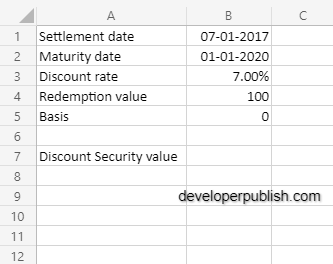 How to use the PRICEDISC  function in Excel?
