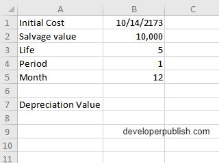 DB Function in Excel