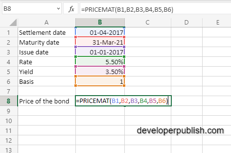 How to use the PRICEMAT function in Excel?