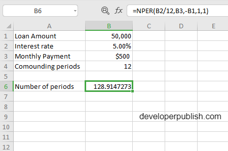 How to use the NPER function in Excel?