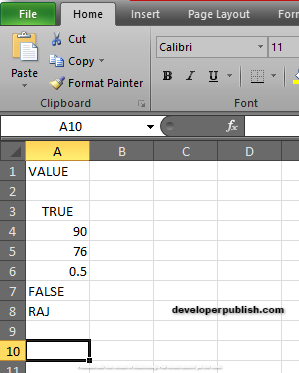 How to use MINA Function in Excel ?