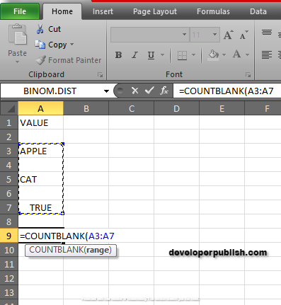 How to use COUNTBLANK Function in Excel?