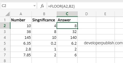 How to use FLOOR function in Excel?