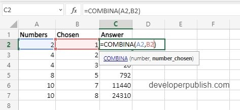 How to use COMBINA Function in Excel?