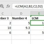 LCM Function in Excel
