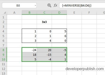 How to use MINVERSE Function in Excel?