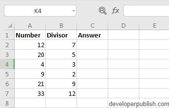 How to use MOD Function in Excel?