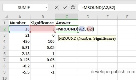 How to use MROUND Function in Excel?