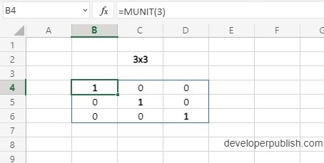 How to use MUNIT Function in Excel?
