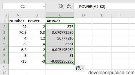 How to use POWER Function in Excel?