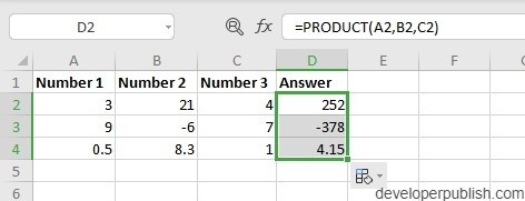 How to use PRODUCT Function in Excel?