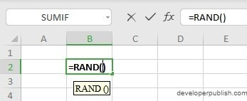 How to use RAND Function in Excel?