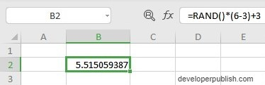 RAND Function in Excel