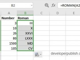 ROMAN Function in Excel In this post you will learn about a simple Excel function - ROMAN Function, how to use it in - with the excel spreadsheets. What are the Arabic Numbers and the Roman Numbers? The Arabic numbers are the ten digits 0,1,2,3,4,5,6,7,8 and 9 Together they form the present Decimal system Roman numbers are certain symbols used in the system of numerical notation. They are based on the ancient Roman system Syntax =ROMAN(number, form) The syntax has two arguments number - This holds the number to be converted form - This hold what type of Roman number you want (optional) Working of the ROMAN Function in Excel The function returns the respective Roman numerals from the given numbers. This ROMAN Function is the opposite to the ARABIC Function. The form argument specifies what type of Roman number that you want, that is classic, simplified, etc. To start, enter the numbers in the excel sheet and in a new cell enter the syntax and highlight the cell to include it in the syntax. ROMAN Function in Excel Press enter to display the answer and use the fill handle to apply the function on the rest of the data. ROMAN Function in Excel