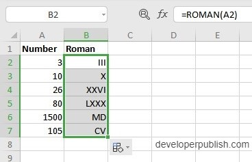 How to use ROMAN Function in Excel?