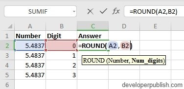 ow to use ROUND Function in Excel?
