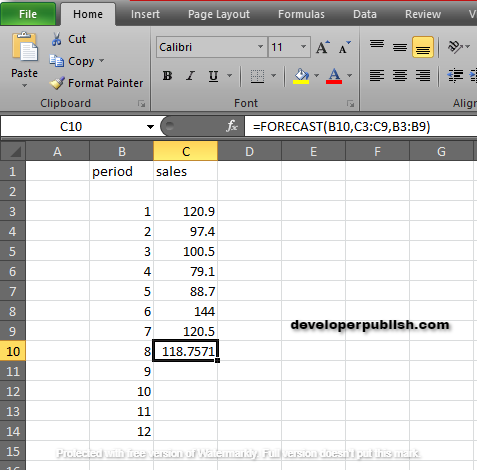 How to use the FORECAST Function in Excel?