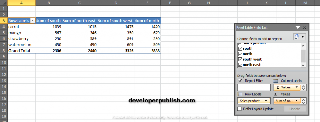 How to use GETPIVOTDATA Function in Excel?
