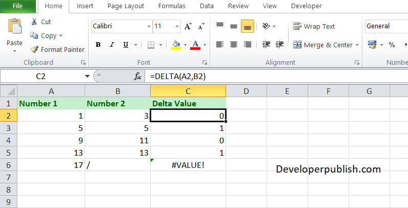 How to use DELTA function in Excel Worksheet?