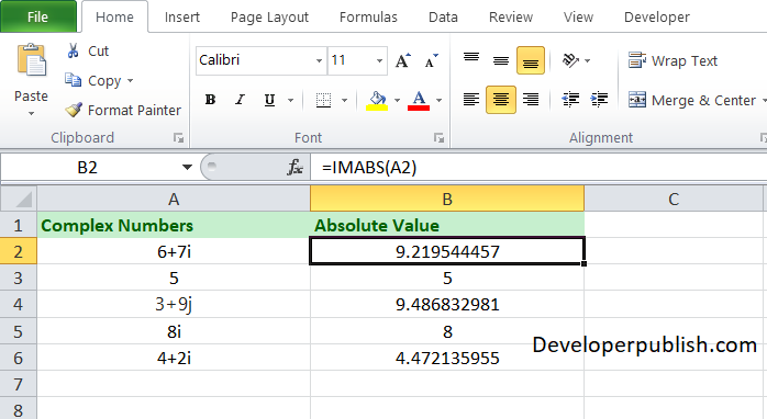 ow to use the COMPLEX function in Excel?