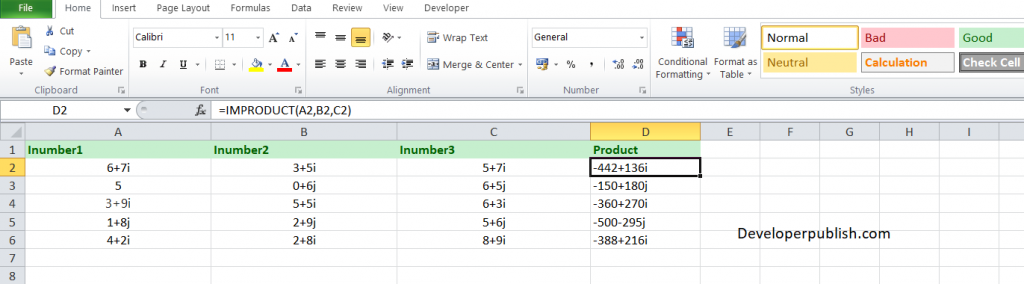 How to use the IMPRODUCT function in Excel?