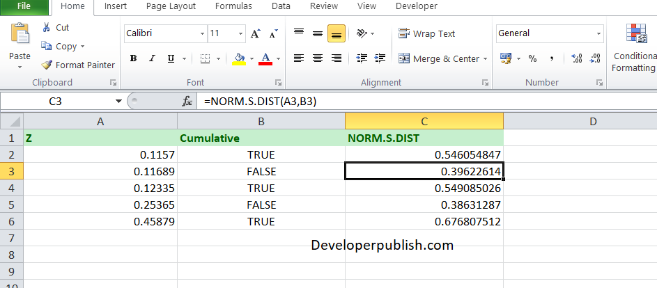 How to use the NORM.S.DIST Function in Excel?
