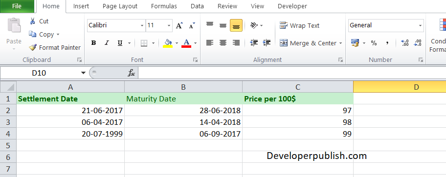 to use the TBILLYIELD Function in Excel?