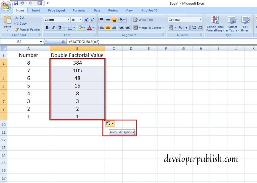 How to use FACTDOUBLE Function in Excel?
