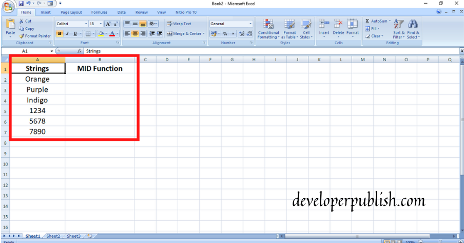 How to use MID Function In Excel?