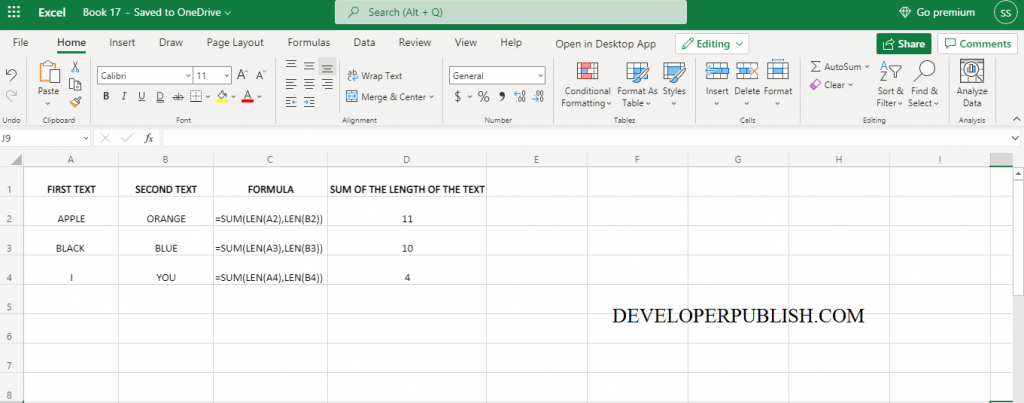 How to use LEN Function in Excel?
