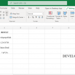 REPLACE Function in excel
